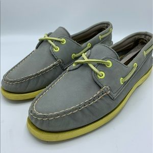 Sperry Top-sider Leeward Gray Nubuck Boat Shoes 8